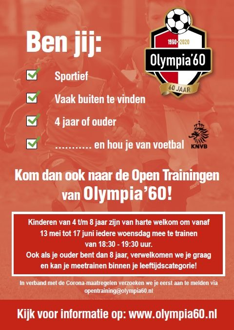 Open Trainingen bij Olympia'60