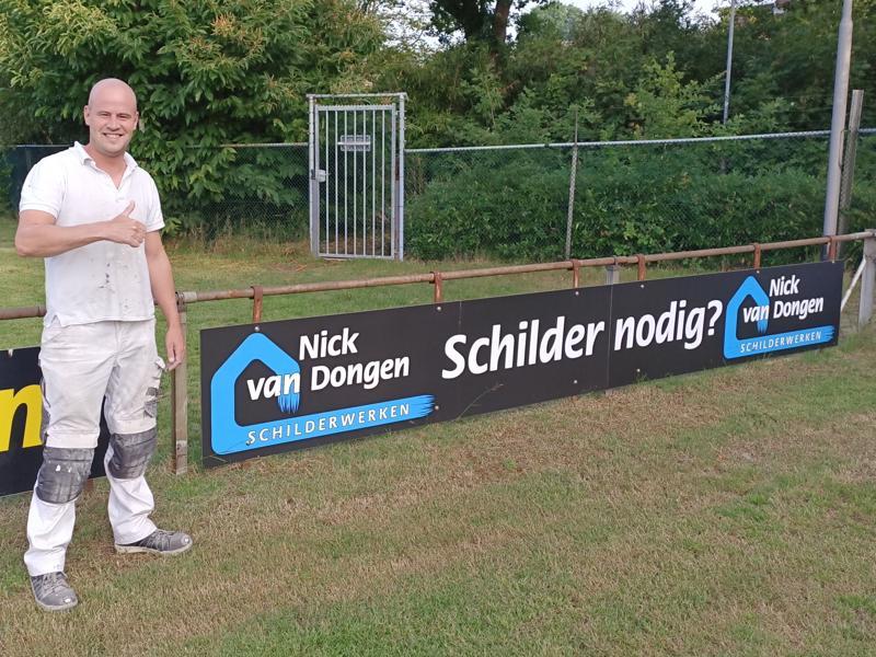 Olympia verwelkomt nieuwe sponsor Nick van Dongen Schilderwerken