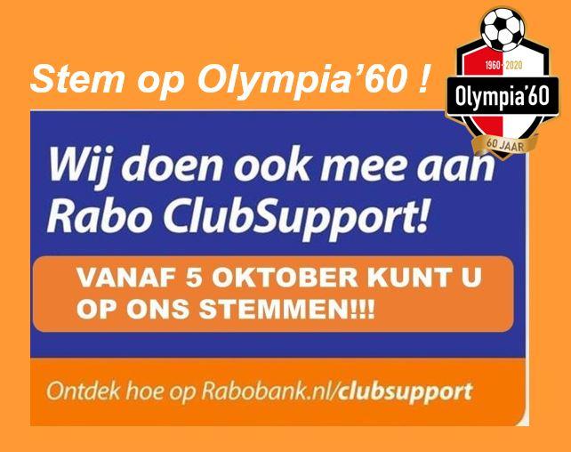 Rabo ClubSupport: stemmen vanaf 5 oktober