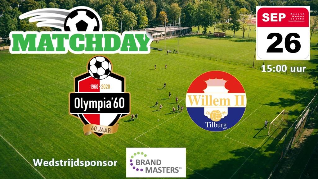 Matchday: Olympia'60  Willem II ama.