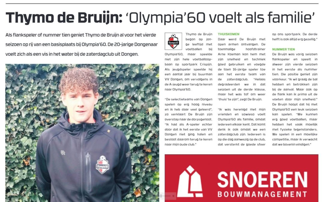 Interview Thymo in Voetbaljournaal
