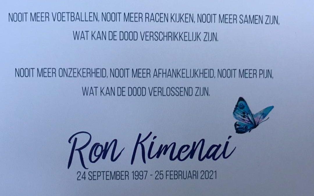 Afscheid Ron Kimenai