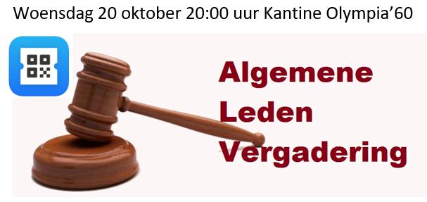 Agenda ALV 20 oktober a.s.
